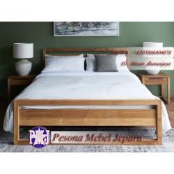 Dipan atau Ranjang Minimalis Model Persegi kayu Jati