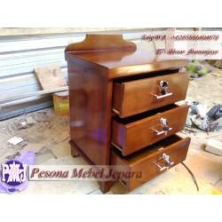 Nakas atau bedside atau drawers Minimalis Laci 3 Pesona Mebel Jepara