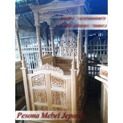 Mimbar Kubah / Mimbar Masjid / Mimbar Kubah Masjid Ukir Kayu Jati Pesona Mebel Jepara