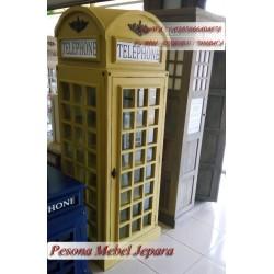 Lemari Telepon / Box Telepon London / Inggris