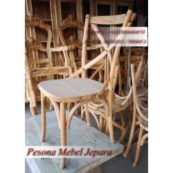 Kursi Teras Silang / Kursi Kafe / Kursi Makan Silang / Kursi Retro