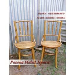 Kursi Teras / Kursi Makan / Kursi Kafe Bubutan Model Bambu