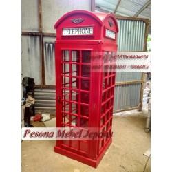Lemari Box Telephone London / Lemari Telepon / Box Telepon London / Inggris